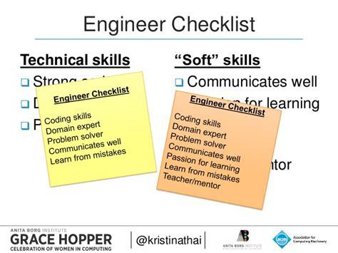 2015 engineer checklist technical skills