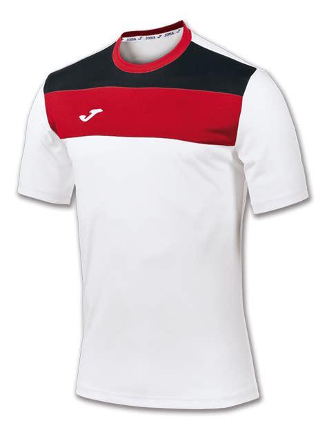 Tshirt Futbol Sala camiseta crew blanco rojo m c joma