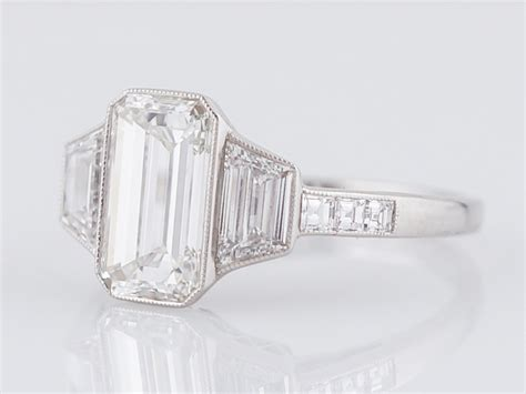 engagement ring modern 2 03 emerald cut in