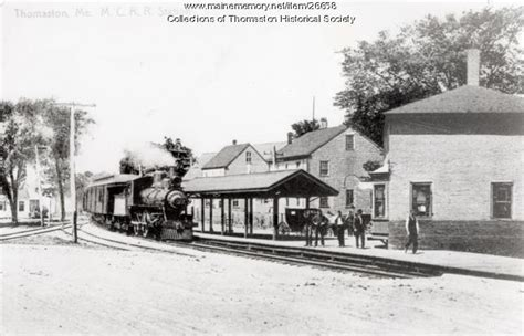 maine memory network railroad depot thomaston ca 1900