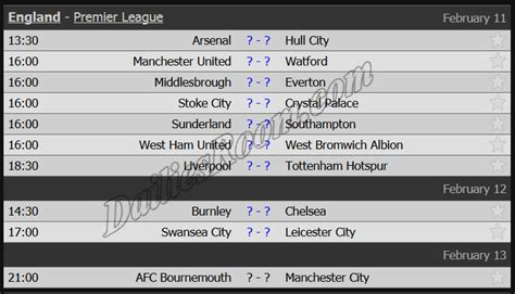 epl weekend fixtures english premier league fixtures schedule 2016 2017 epl