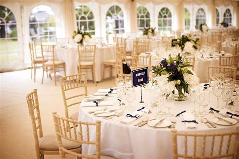 round table decorations marquee wedding reception case study