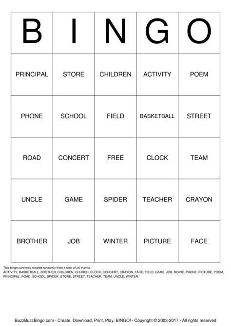 free printable noun board games noun bingo cards to download print and customize