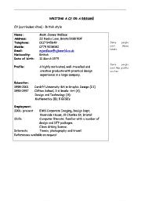 american curriculum vitae cv resume resume cv american