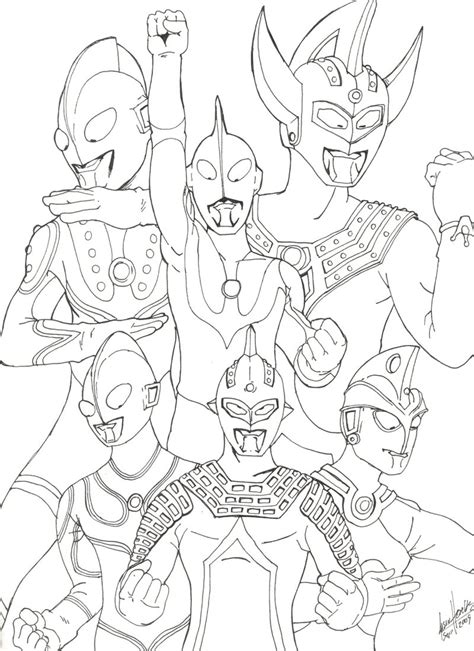 printable coloring pages ultraman ultraman free colouring pages