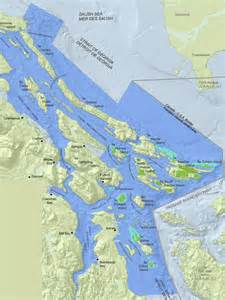 marine maps canada southern strait of cpaws columbia