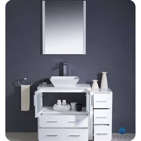 42 inch base white vessel sinks with vanity base small bathroom vanity base
