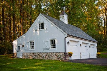 colonial farmhouse traditional garage  shed
