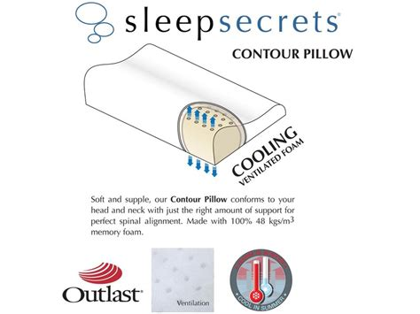 sleep secrets outlast contour memory foam pillow