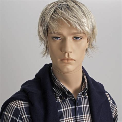 male wig phm04 black europe mannequin naturalistic male mannequin calvin european mannequins