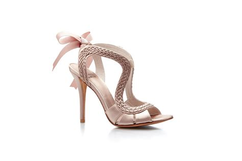 Blush Pink Bridal Shoes by Blush Pink Wedding Shoes Ribbon Tie Onewed