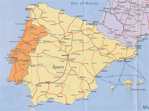 map of spain and portugal map of portugal and spain imsa kolese