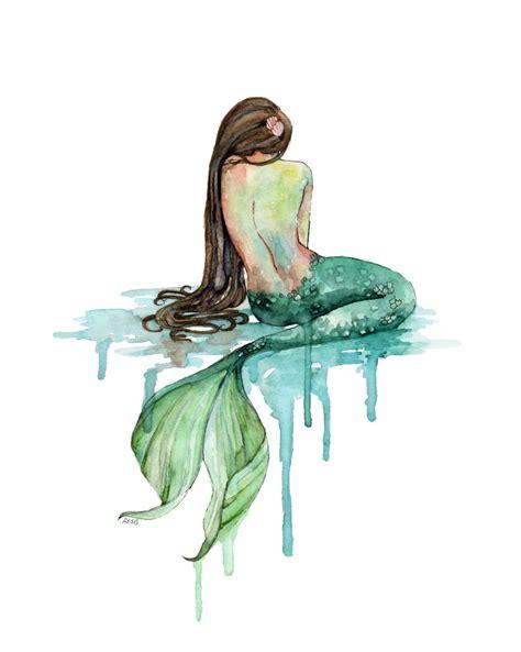 printable mermaid art xlarge mermaid painting print titled the