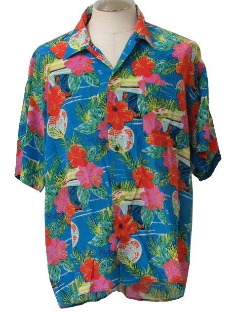 Hq 10977 Collar Gold Shirt Black White 1990s tauno collection hawaiian shirt 90s tauno