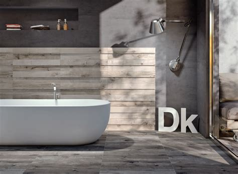 Ceramic Tile Replicates Wood Dakota By Flaviker Wood Look Tile Bathroom