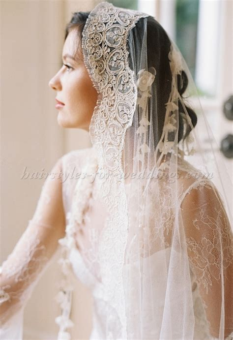 Wedding Hairstyles With Mantilla Veil by Wedding Caps And Veils Mantilla Veil Hairstyles For