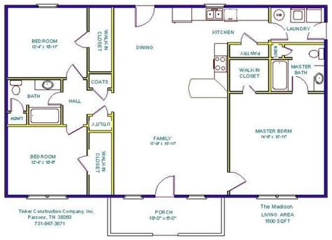 3 bedroom 2 bath open floor plans open floor plans with basements floor plans and details