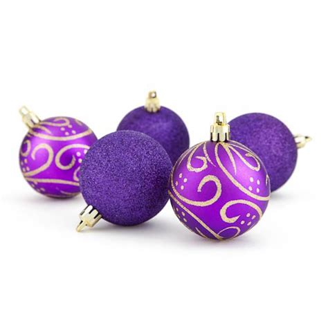 christmas ornaments purple a color with punch