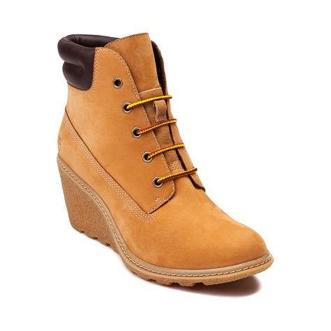 timberland wedge boots womens timberland amston wedge boot light brown 538538