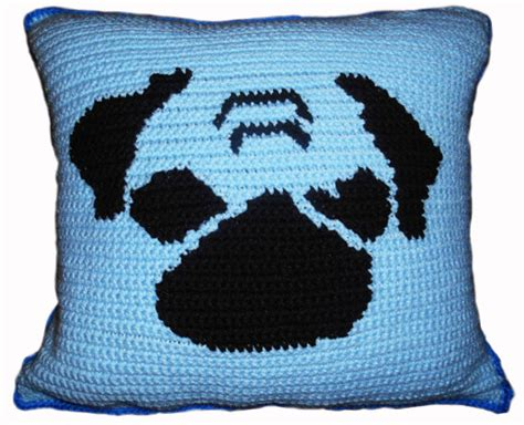crochet pug pillow pattern pug crochet throw pillow