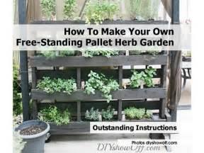 How To Make A Vertical Pallet Herb Garden How To Make Your Own Free Standing Pallet Herb Garden