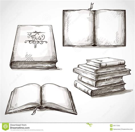 Book On Table Drawing