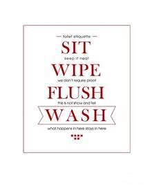 toilet etiquette digital art by jeeby me
