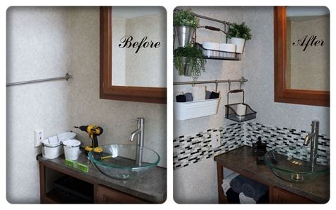 smart tiles bathroom our first rv mod the bathroom quot smart tiles quot from home