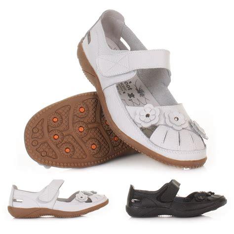 Best Seller Flat Shoes Dr 11 Hitam Murah Meriah womens leather comfy dr lightfoot comfort flower flat shoes size 3 8 ebay