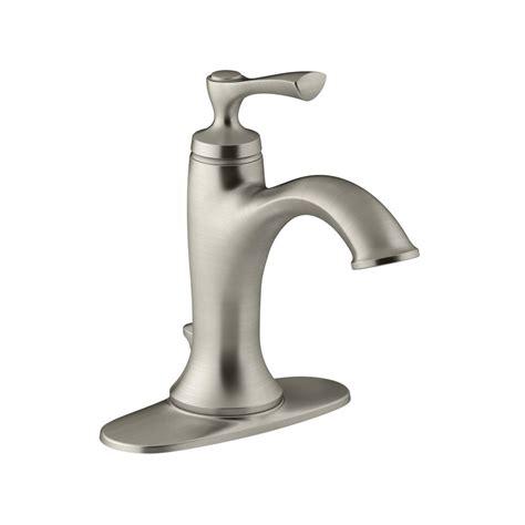 kohler elliston single hole single handle bathroom faucet  brushed nickel    bn