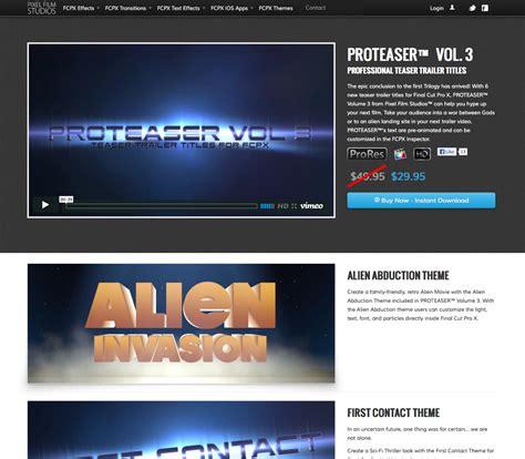 final cut pro trailer pixel film studios releases proteaser volume 3 teaser