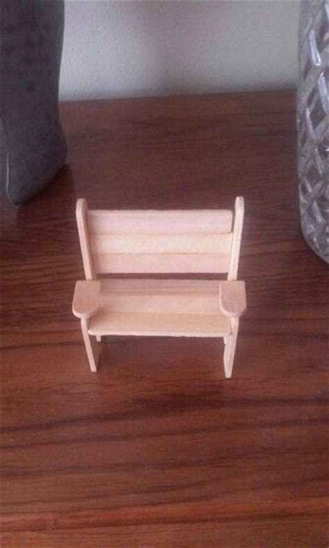 popsicle stick bench popsicle stick bench miniatures pinterest popsicles