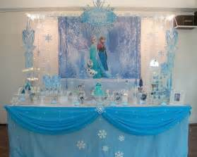 frozen table decorations disney s frozen themed birthday decor planning