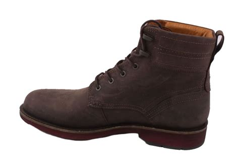 ecco bendix mens coffee leather low cut lace ankle boots