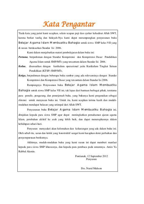 Buku Pengantar Pendidikan 1 kata pengantar buku pai kelas 7