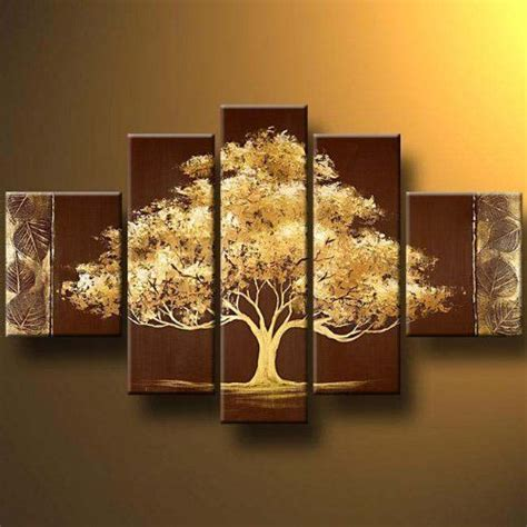 home decoration art tree modern canvas art wall decor landscape oil painting