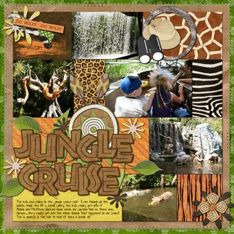 scrapbook layout ideas cruise 1000 images about disney jungle cruise scrapbook pages on