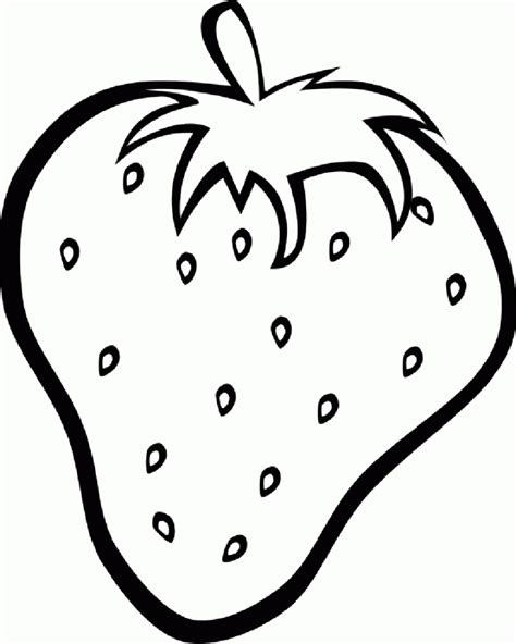 Strawberries clipart coloring page, Strawberries coloring