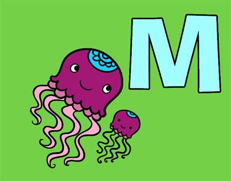 desenho de letra m pintado desenho de m de medusa pintado e colorido por usu 225 n 227 o registrado o dia 24 de maio do 2015