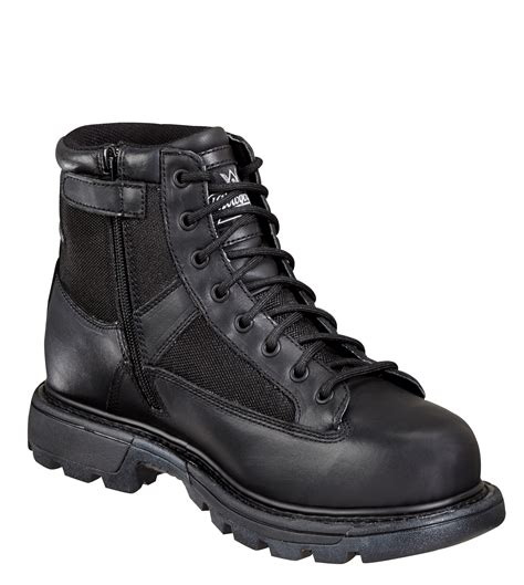 thorogood mens tactical black leather boots 6in trooper