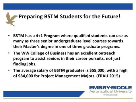 Opportunities After Mba In Aviation by Erau Degree Briefing Bs Technical Management And Mba In