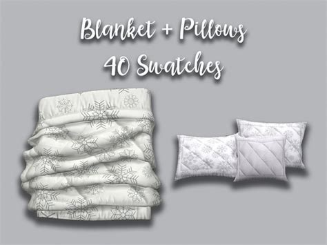 blooming rosy wintry bedroom set blanket  pillows sims  downloads