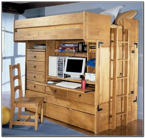 loft bed with storage and desk size loft bed with desk and storage beds home