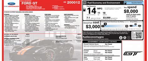 ford gt sticker price leno s ford gt window sticker reveals 506 252 price