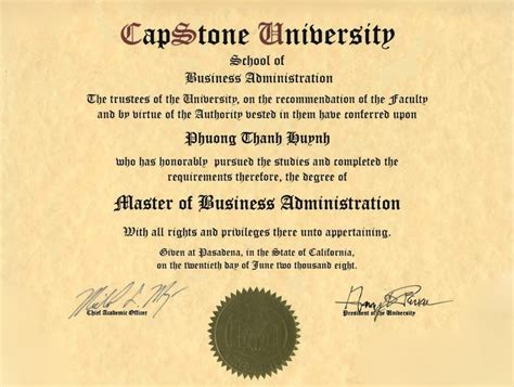 Mba Capstone by Master Of Business