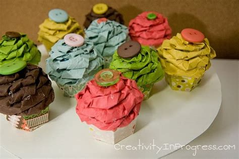 How To Make Cupcakes Out Of Paper - cupcakes take the cake cool craft project paper