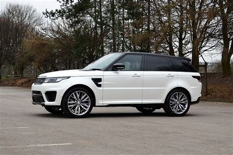 range rover svr white range rover sport svr wrapped in satin pearl white