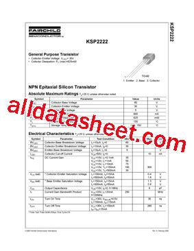 transistor mps2222a datasheet 2222a datasheet pdf electronic components