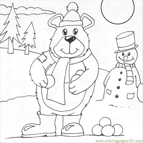 Snow Bear Coloring Page | teddy bear cartoon for coloring new calendar template site