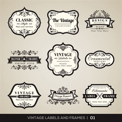 the images collection of vector round label victorian round vintage vintage labels and frames collection vector free download